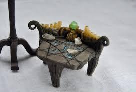 polymer clay home decor skyrim enchanting table miniature polymer clay handmade skyrim