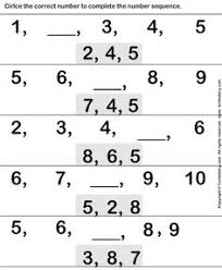 number sequence worksheet 14 math worksheets kindergarten