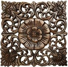 wall decor wood plaques rustic home decor wood plaque square carved lotus
