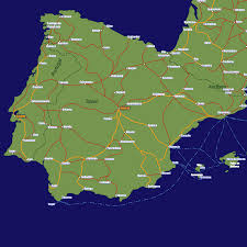 San Sebastian Spain Map by Spain Rail Travel Map European Rail Guide