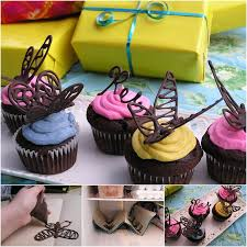 How To Make Chocolate Butterfly Cupcake Decorations DIY Tutorial