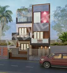 proposed exterior design for mr goel u0027s residence at paschim vihar
