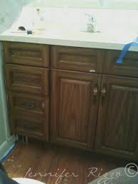 Painting A Bathroom Vanity Before And After by Updating The Second Bathroom Before And Almost After The Oak