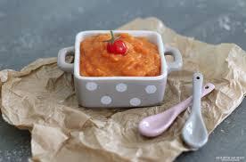 cuisiner les tomates cerises purée de patate douce et tomates cerises cuisine de bébé