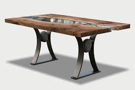 river run slab wood dining table