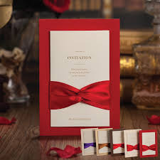 wedding invitations cards classic bow knot beautiful