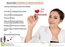 starting a wedding planning business how to start wedding planning business for concept stock