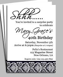 surprise birthday party invitation wording for adults vertabox com