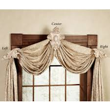 Curtain Rod Sconce Wine Bottle Sconce With Bracket Home Leaf Swag Crest Drapery