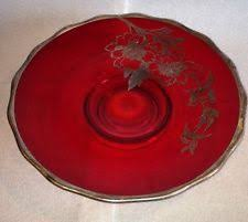 40th anniversary plates silver city flanders ruby 40th anniversary silver overlay