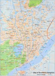 map in china hangzhou maps streets tourist attractions