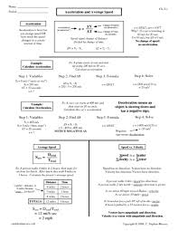 Speed Velocity And Acceleration Worksheet With Answers All Worksheets Calculating Speed Velocity And Acceleration