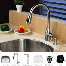Kitchen Sink And Faucet Combinations Kitchen Sink And Faucet Combo Kraus Combos 33 X 21 Single Basin