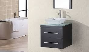 Open Bathroom Vanity by Rustic Black Wooden Bathroom Vanity And Square Black Wooden Wall