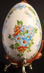 painted or scratched eggs from poland kraszanka