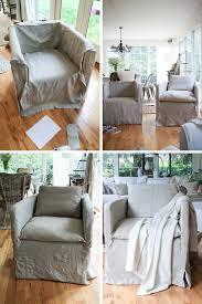 Linen Chair Slipcover Diy Linen Chair Slipcover Zevy Joy