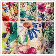 Polyester Flowers - printed velvet sofa fabric for home textile email sandy shengyu