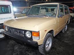 1970 land rover 1981 range rover classic museum exhibit 360carmuseum com