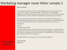 letter for marketing manager job application