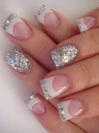 silver glittered nail art for girls trendy mods com