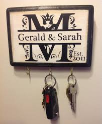 personalized wedding gift monogram key holder awesome for