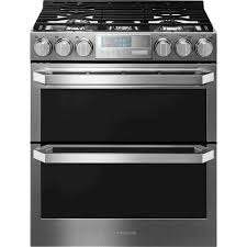 lg 6 9 cu ft self cleaning slide in double oven gas convection