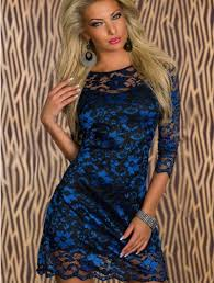 blue new years dresses blue new years lace evening dress stylish n trendy online
