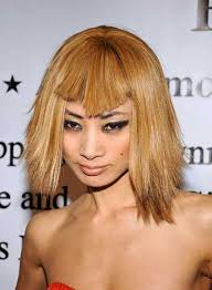 hairstyles for straight across bangs short funky hairstyles with bangs beauty riot