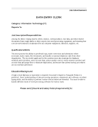 data entry job description example data entry clerk job