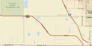 Florida Turnpike Map Crash Blocks Southbound Turnpike Near Yeehaw Junction