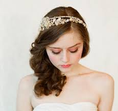 hair accessories for prom new design 2015 wedding bridal tiara headwear gold rhinestones
