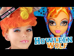 howleen wolf monster high doll costume makeup tutorial for cosplay or
