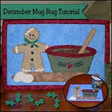 Gingerbread Rugs Christmas Baking December Mug Rug Of The Month So Sew Easy