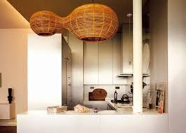cuisine shabby maison en bois en utilisant suspension cuisine moderne luxe