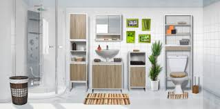 free standing bath linen tower cabinet natural oak montreal