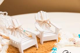beach wedding cake topper mini adirondack chair set beach wedding