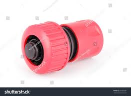 garden water hose nozzle connectors isolated stock photo 397225966