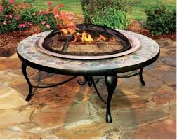 slate fire pit table asia direct 40 inch copper and slate fire pit table with copper fire