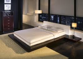 Modern Platform Bed Frame Worth Hb39a Platform Bed By Modloft With Built In Side Tables