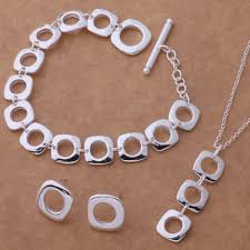 sterling silver necklace set images 2018 factory price 925 sterling silver jewelry sets for women jpg