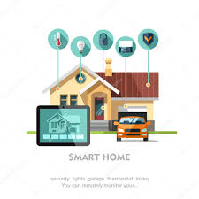 smart home flat design style vector illustration concept of smart