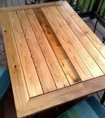 Cedar Table Top by Cedar Outdoor Table With Built In Wine U0026 Beer Cooler With Metal