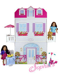 18 inch doll kitchen furniture the southern market two story 18 inch doll playhouse