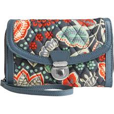 vera bradley ultimate wristlet nomadic floral with gray