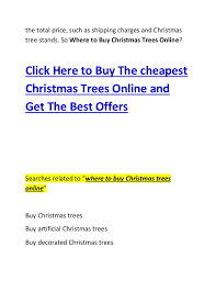 where to buy christmas trees online 2014 2015