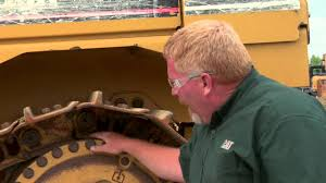 cat dozer undercarriage master links youtube