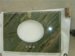 Cultured Onyx Vanity Tops Green Marble Vanity Tops Basin Top Bathroom Countertop Green