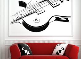 vintage poster guitar collection retro paper print picture wall