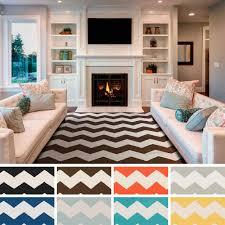 20 ways to blue and white chevron rug