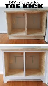 why do cabinets a toe kick diy decorative toe kick built ins part 3 remodelando